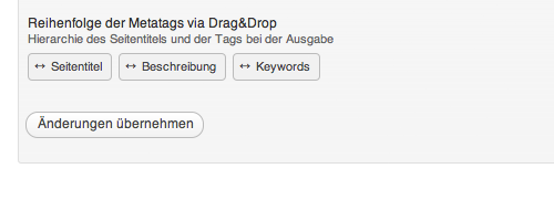 Reihenfolge der Metadaten via Drag&Drop in wpSEO