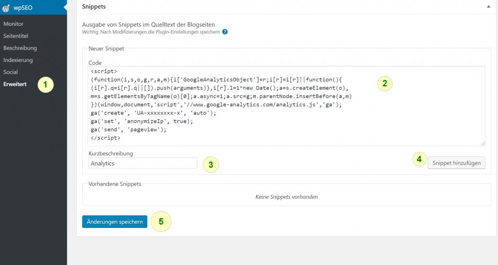Analytics Code in WordPress einbinden