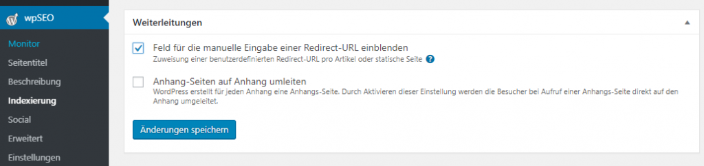 redirect 301 wordpress mit wpseo