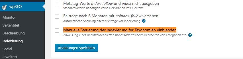 Bei WordPress eine Kategorie auf Noindex setzen