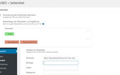 Der Startseite in WordPress einen Seitentitel zuweisen