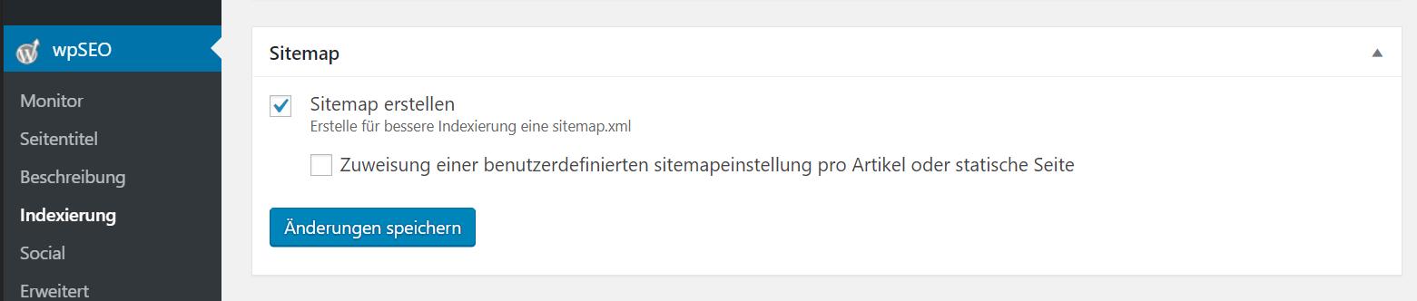XML Sitemap für WordPress mit wpSEO