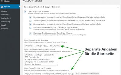 Open Graph Meta Angaben bei WordPress mit wpSEO