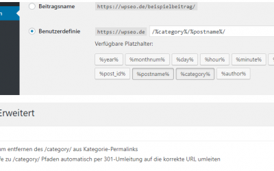 In WordPress das /category/ aus der URL entfernen